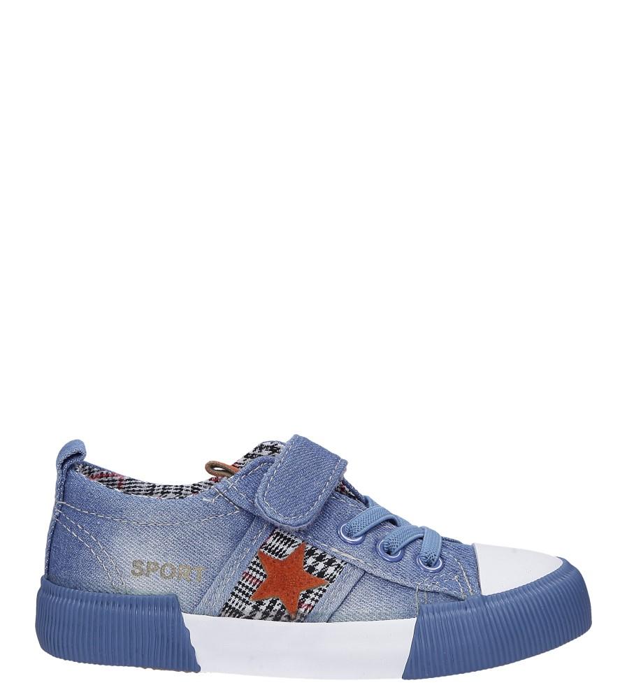 Niebieskie trampki jeansowe z gwiazdą Casu B6033