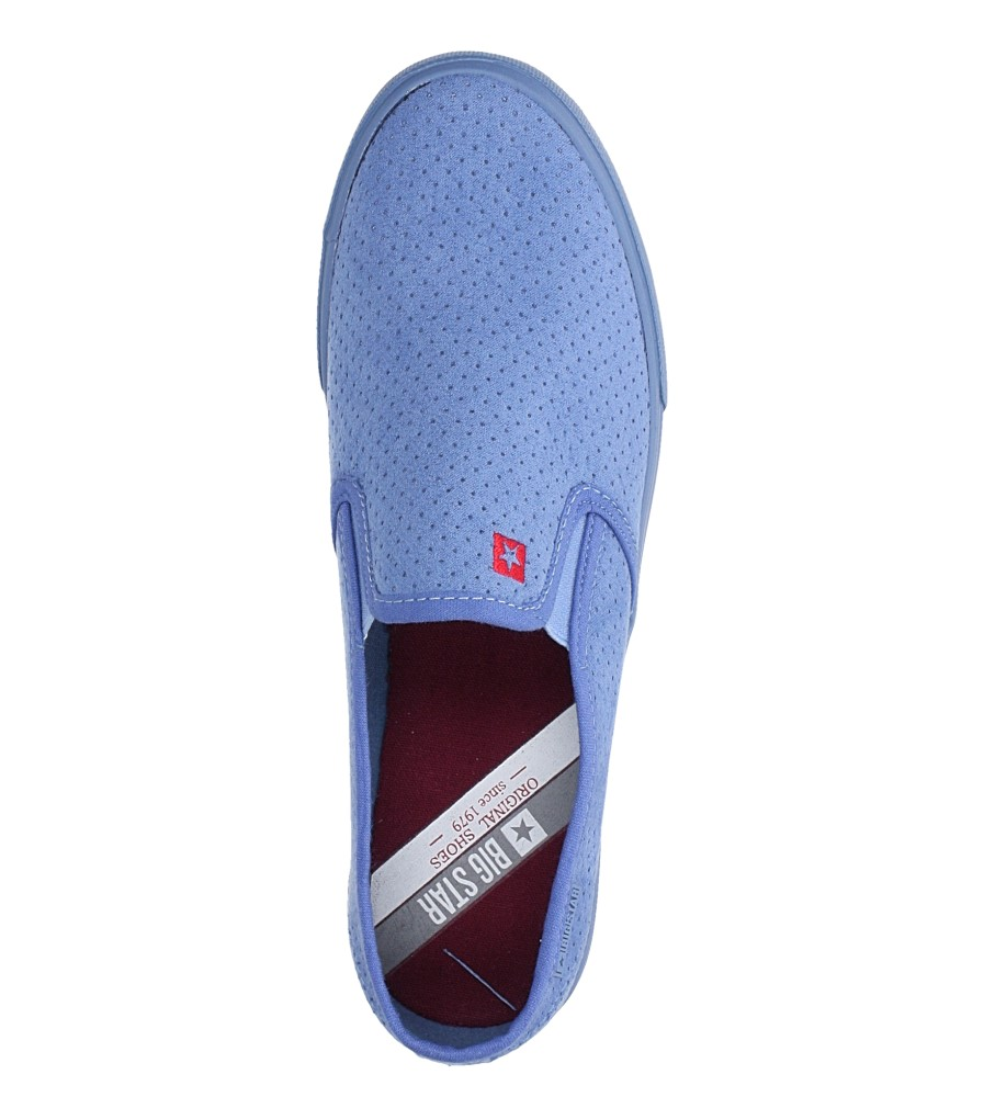 Niebieskie trampki slip on Big Star DD274886