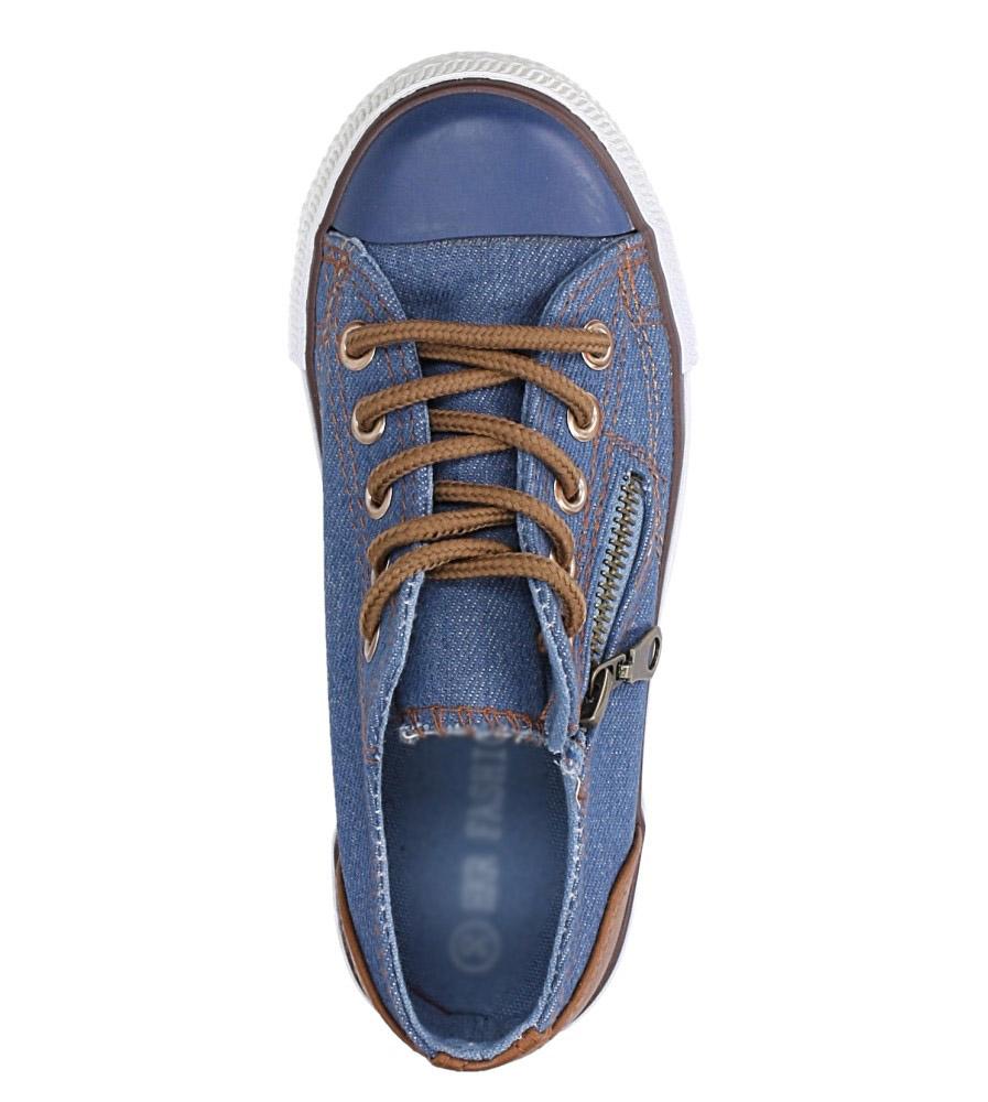 Niebieskie trampki sznurowane Casu 5JE-TA86049 kolor brązowy, niebieski