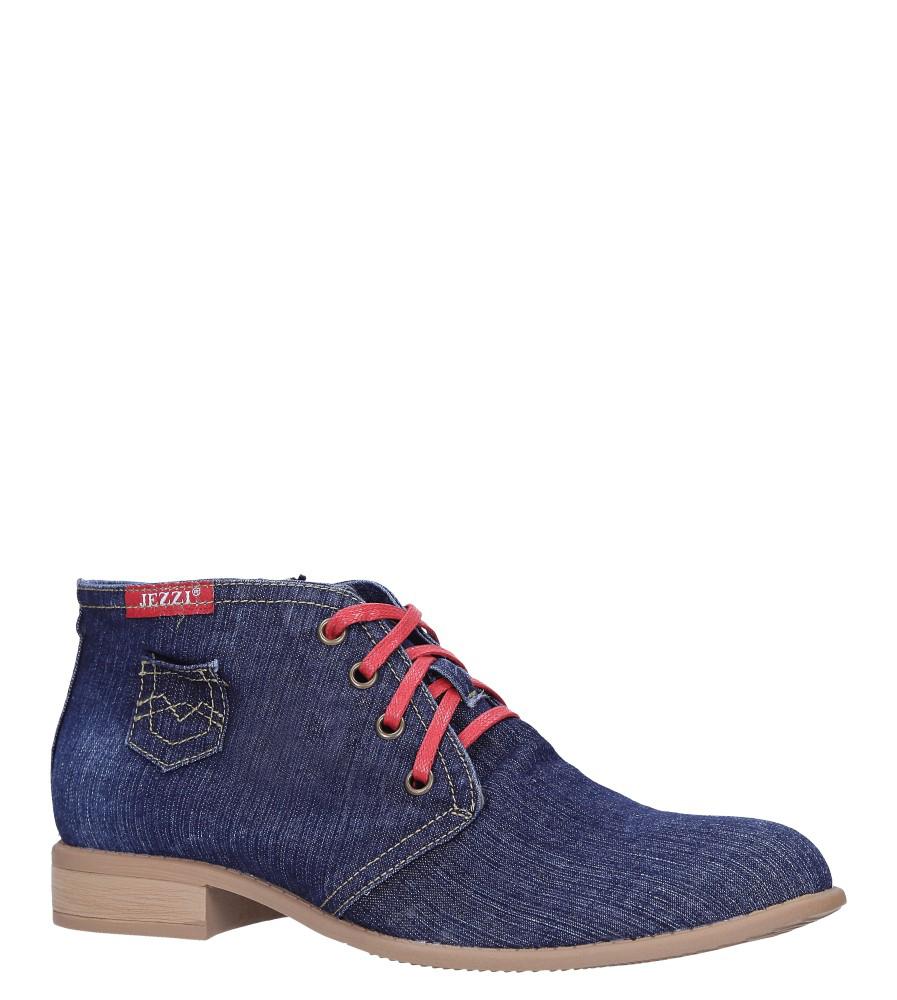 Niebieskie trzewiki jeansowe sznurowane Jezzi ASA142-8 model ASA142-8