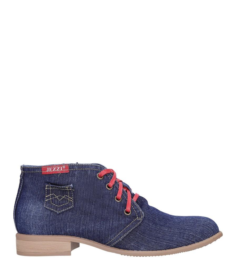 Niebieskie trzewiki jeansowe sznurowane Jezzi ASA142-8 wysokosc_platformy 0.5 cm