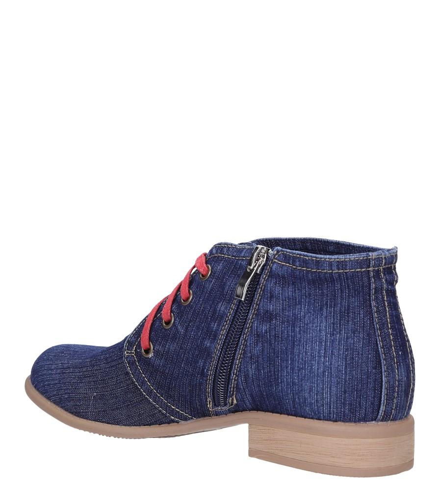 Niebieskie trzewiki jeansowe sznurowane Jezzi ASA142-8 wys_calkowita_buta 11 cm