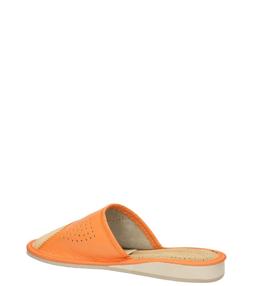 OBUWIE CASU DOMOWE D-22 kolor jasny beżowy, pomarańczowy