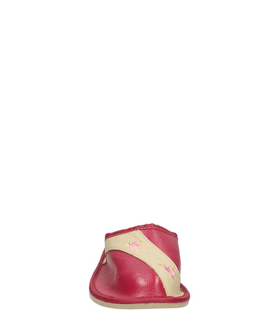 OBUWIE CASU DOMOWE WZ27 kolor ciemny beżowy, ciemny różowy