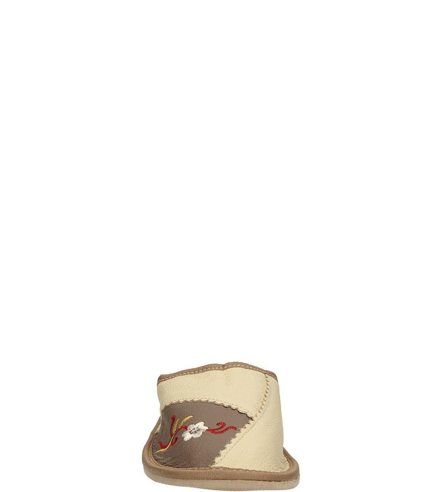 OBUWIE CASU DOMOWE WZ34 kolor beżowy, jasny brązowy