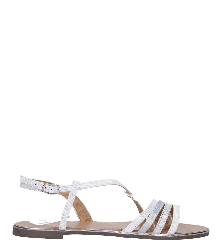 Perłowe sandały metaliczne płaskie Casu S19X6/W wysokosc_platformy 0.5 cm