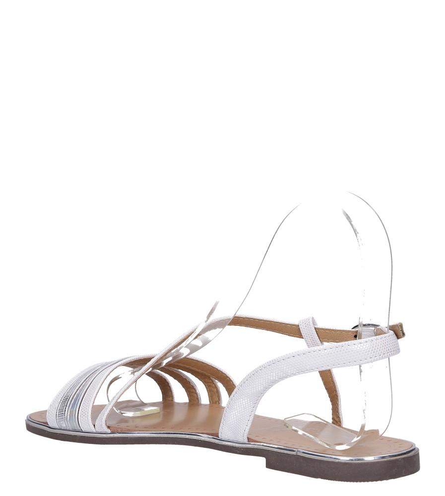 Perłowe sandały metaliczne płaskie Casu S19X6/W wys_calkowita_buta 7 cm