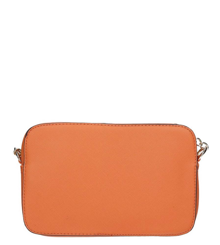 Pomarańczowa torebka mała na łańcuszku z kieszonką Casu AC-119