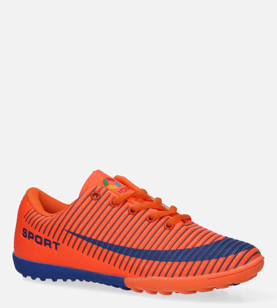 Pomarańczowe buty sportowe orliki sznurowane Casu 20M2/M producent Casu