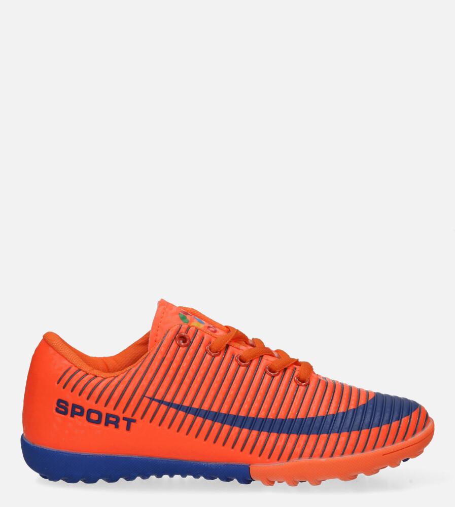 Pomarańczowe buty sportowe orliki sznurowane Casu 20M2/M