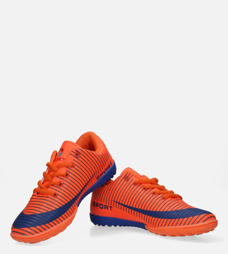 Pomarańczowe buty sportowe orliki sznurowane Casu 20M2/M kolor niebieski, pomarańczowy