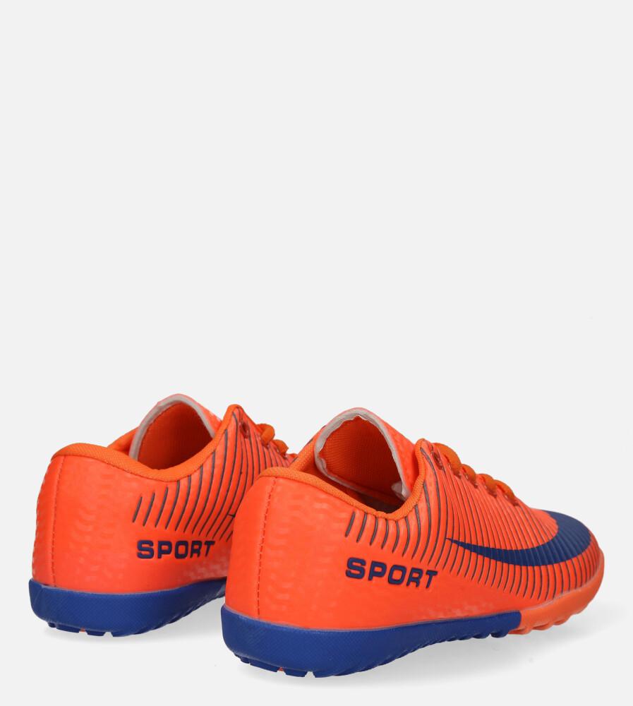 Pomarańczowe buty sportowe orliki sznurowane Casu 20M2/M wysokosc_platformy 1.5 cm
