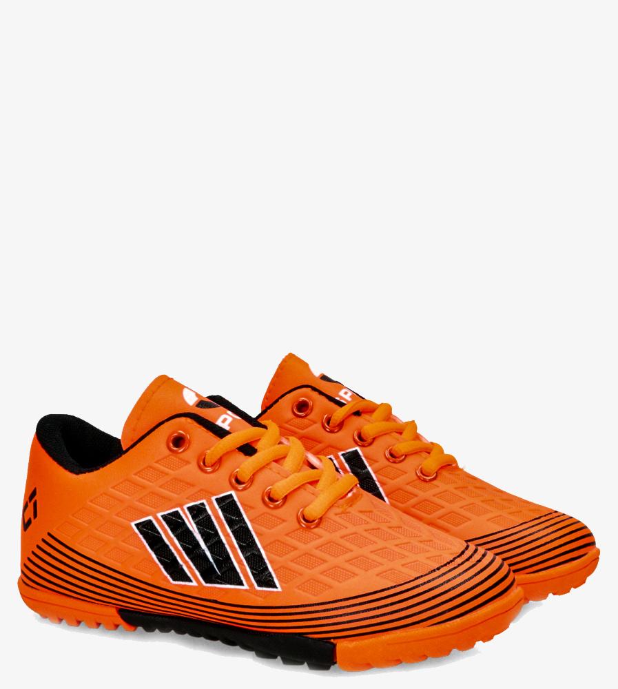 Pomarańczowe buty sportowe orliki sznurowane Casu 21M1/M pomarańczowy