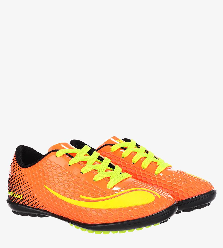 Pomarańczowe buty sportowe orliki sznurowane Casu D415-22