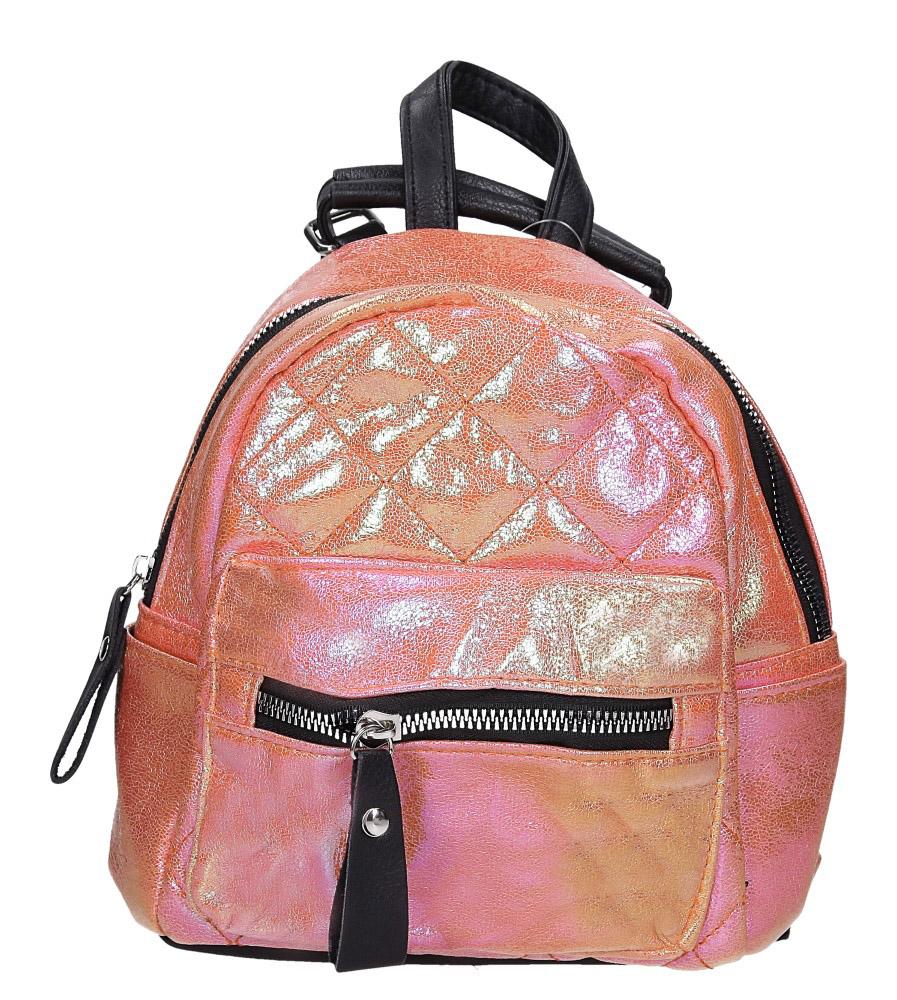 Pomarańczowy plecak holograficzny z kieszonką z przodu Casu AE-47