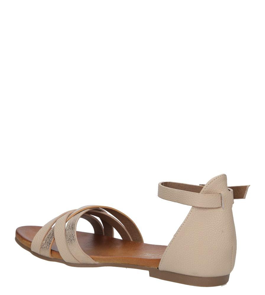 Pudrowy róż eleganckie sandały z zakrytą piętą Casu K18X9/LP wysokosc_obcasa 1 cm