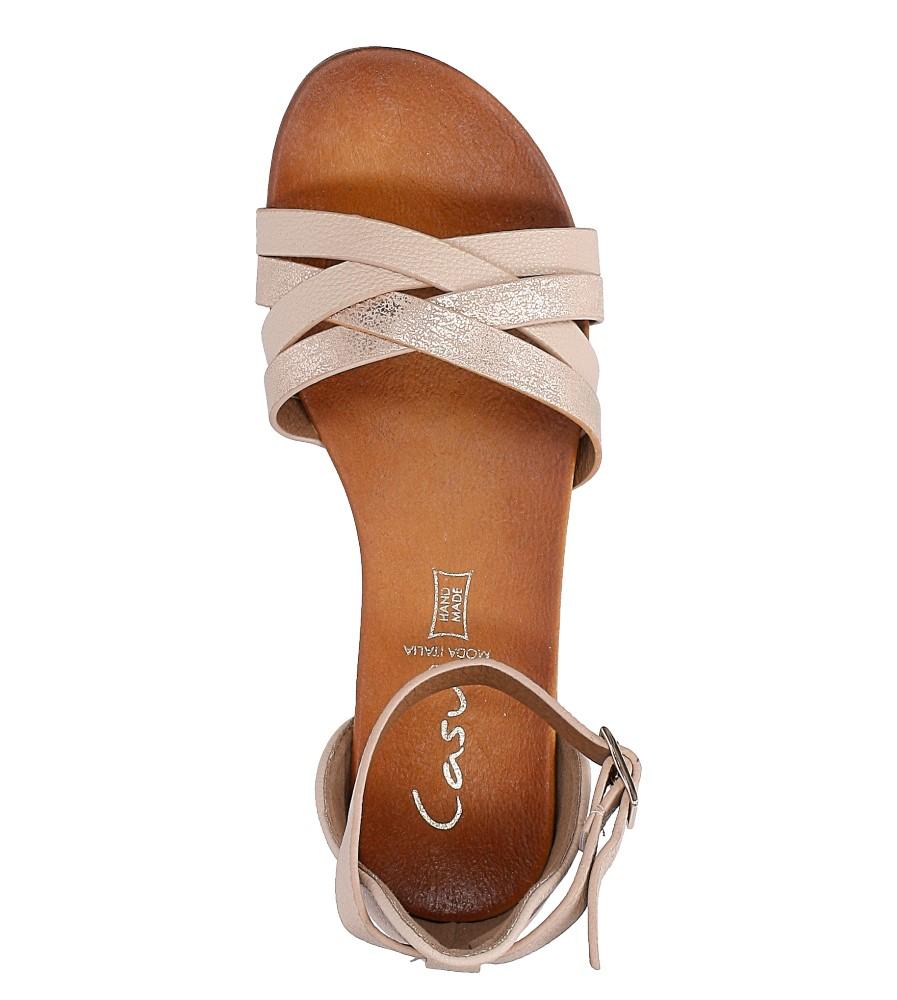 Pudrowy róż eleganckie sandały z zakrytą piętą Casu K18X9/LP wysokosc_platformy 1 cm