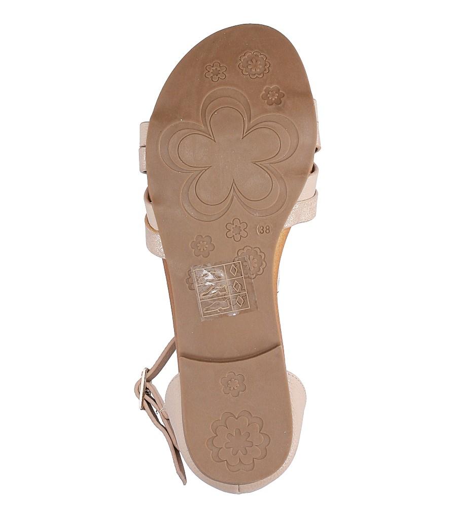 Pudrowy róż eleganckie sandały z zakrytą piętą Casu K18X9/LP wys_calkowita_buta 10.5 cm