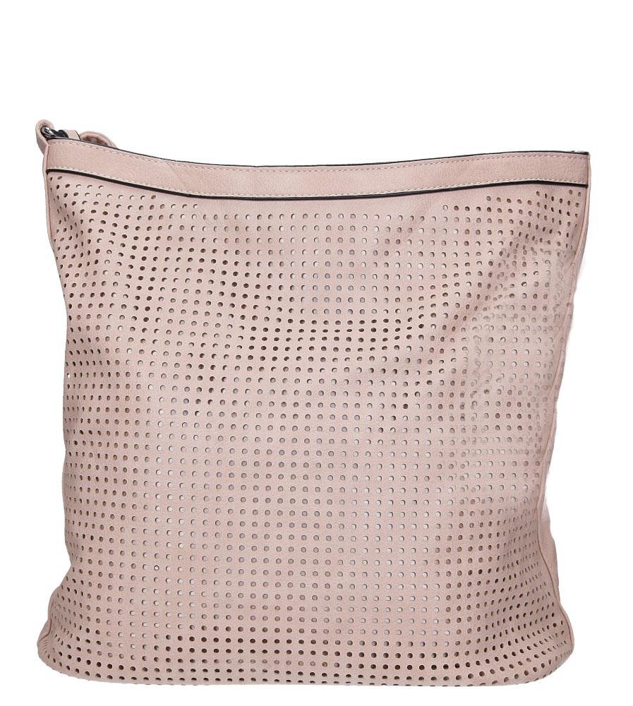 Różowa torebka ażurowa Casu 686-MH