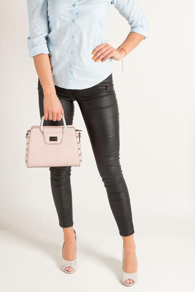 Różowa torebka do ręki Casu S6398