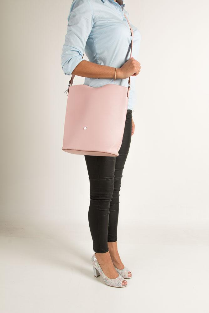 Różowa torebka listonoszka Casu 3335-MM