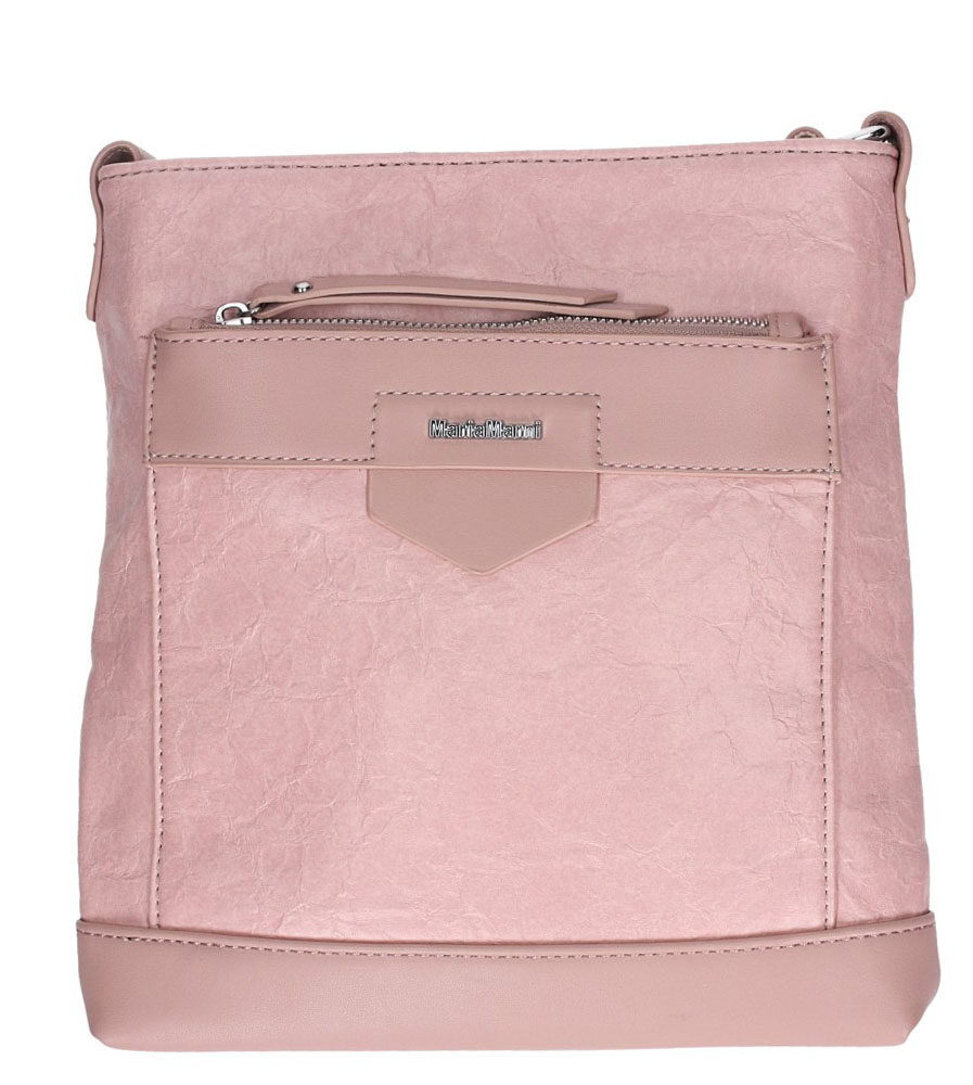 Różowa torebka listonoszka z kieszonką z przodu Casu 3661-MM