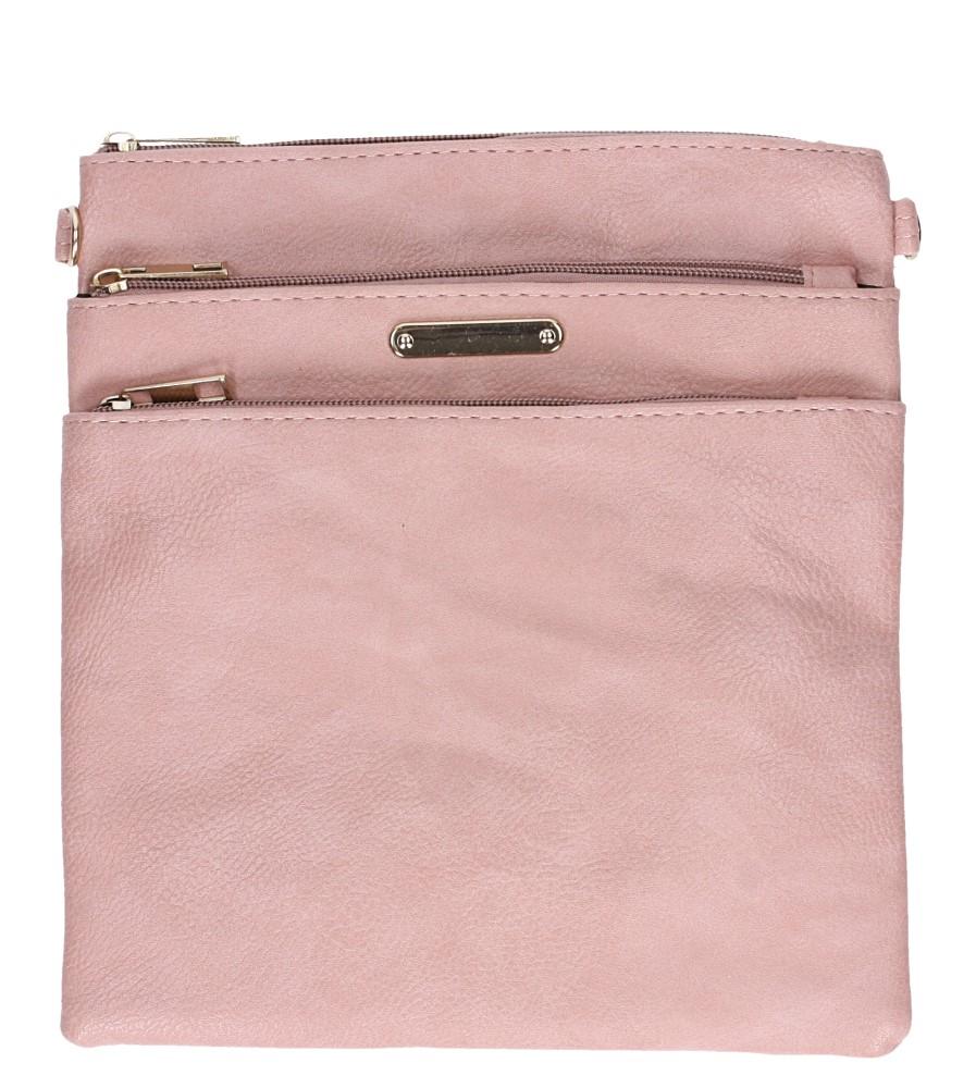 Różowa torebka listonoszka z kieszonką z przodu Casu AD-104