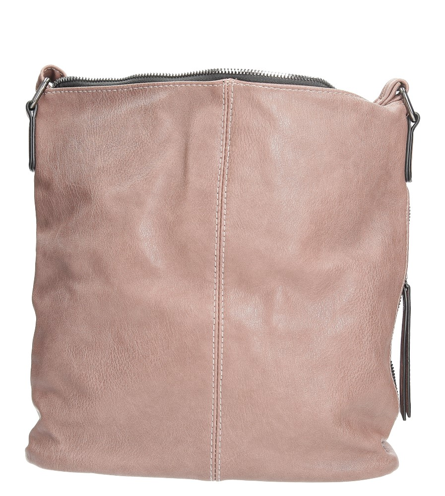 Różowa torebka listonoszka z metalową ozdobą Casu 7719