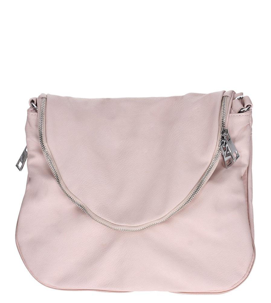 Różowa torebka listonoszka z ozdobnym suwakiem Casu 23-MH