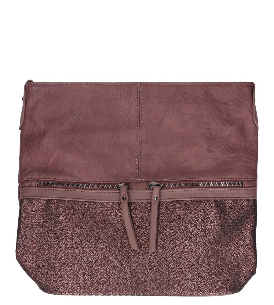 Różowa torebka listonoszka z ozdobnymi suwakami Casu 3940-BB