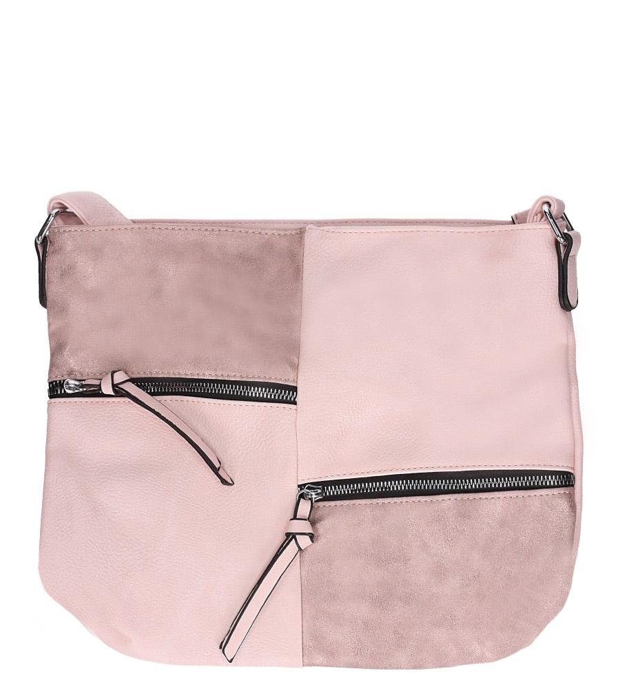 Różowa torebka listonoszka z ozdobnymi suwakami Casu AD-48