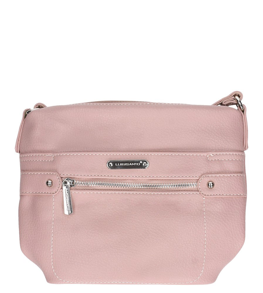 Różowa torebka mała z kieszonką z przodu Casu 5718-1