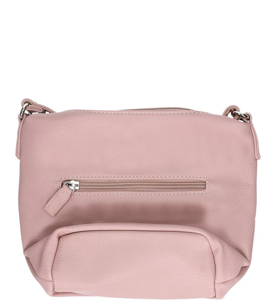 Różowa torebka mała z kieszonką z przodu Casu 5718-1 kolor jasny różowy