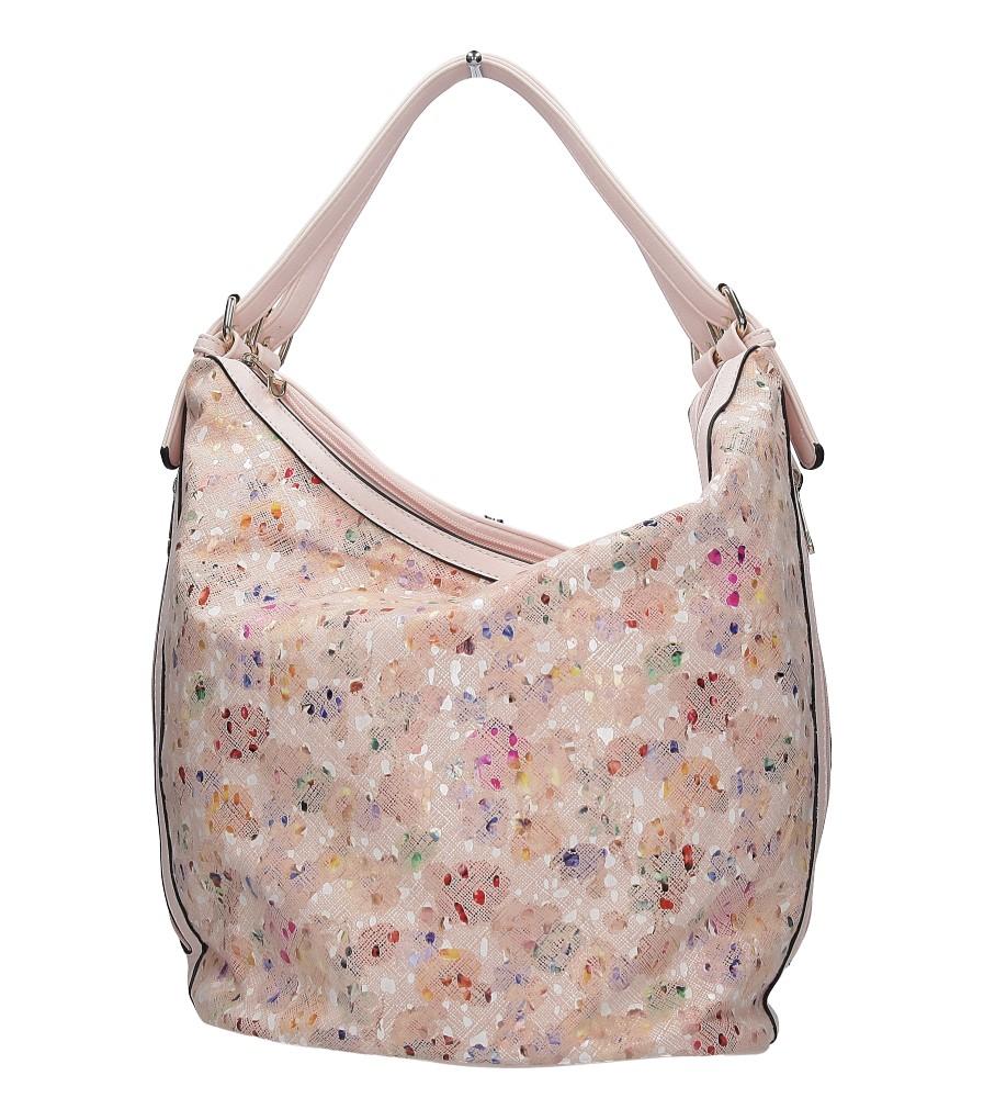 Różowa torebka mozaika Casu LY-3460