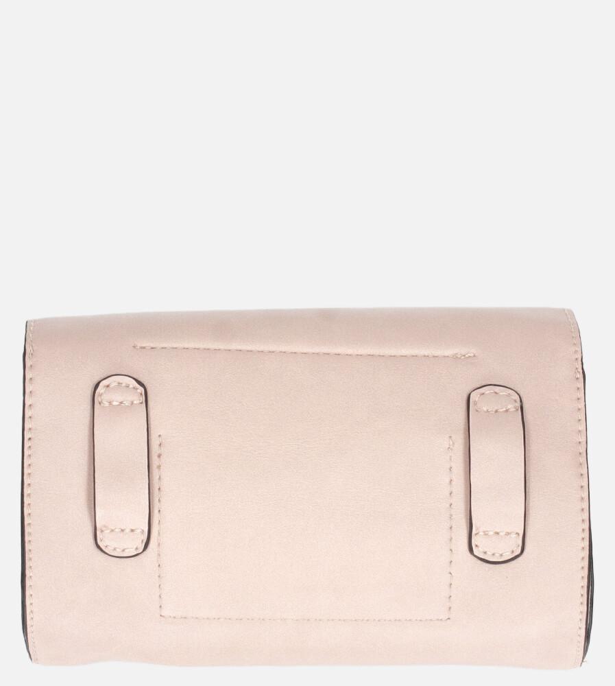 Różowa torebka na pas mała Casu W-550