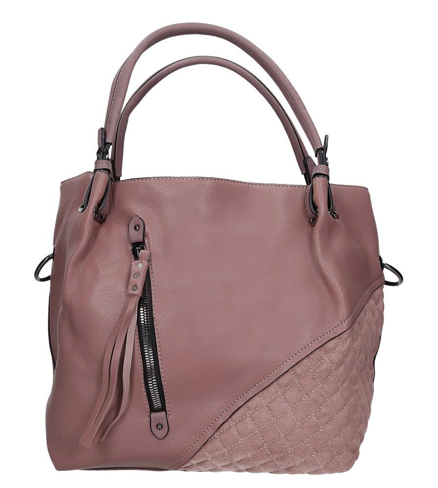 Różowa torebka pikowana z ozdobnym suwakiem Casu 2683