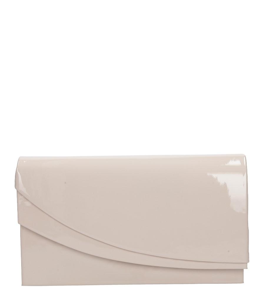 Różowa torebka wizytowa lakierowana Casu M01A