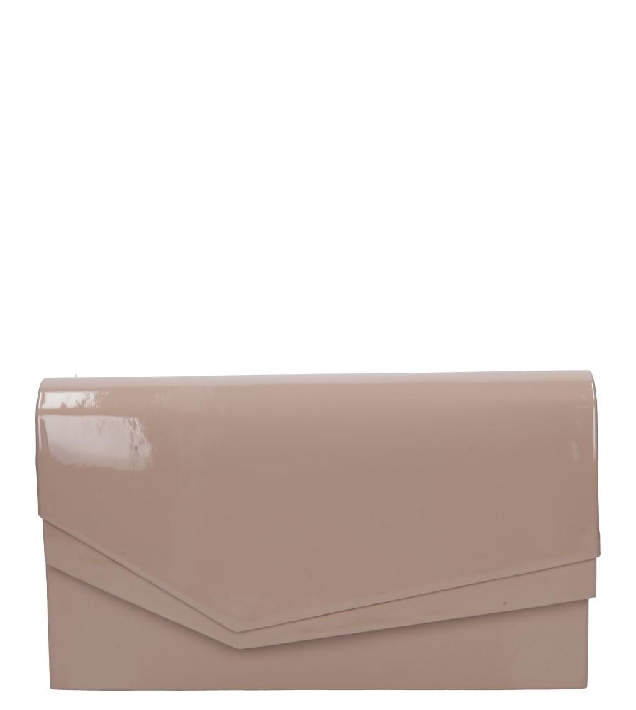 Różowa torebka wizytowa lakierowana Casu M01B