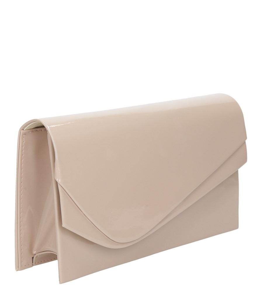 782a86c4c509f ... Różowa torebka wizytowa lakierowana Casu M01C material skóra  ekologiczna lakierowana ...