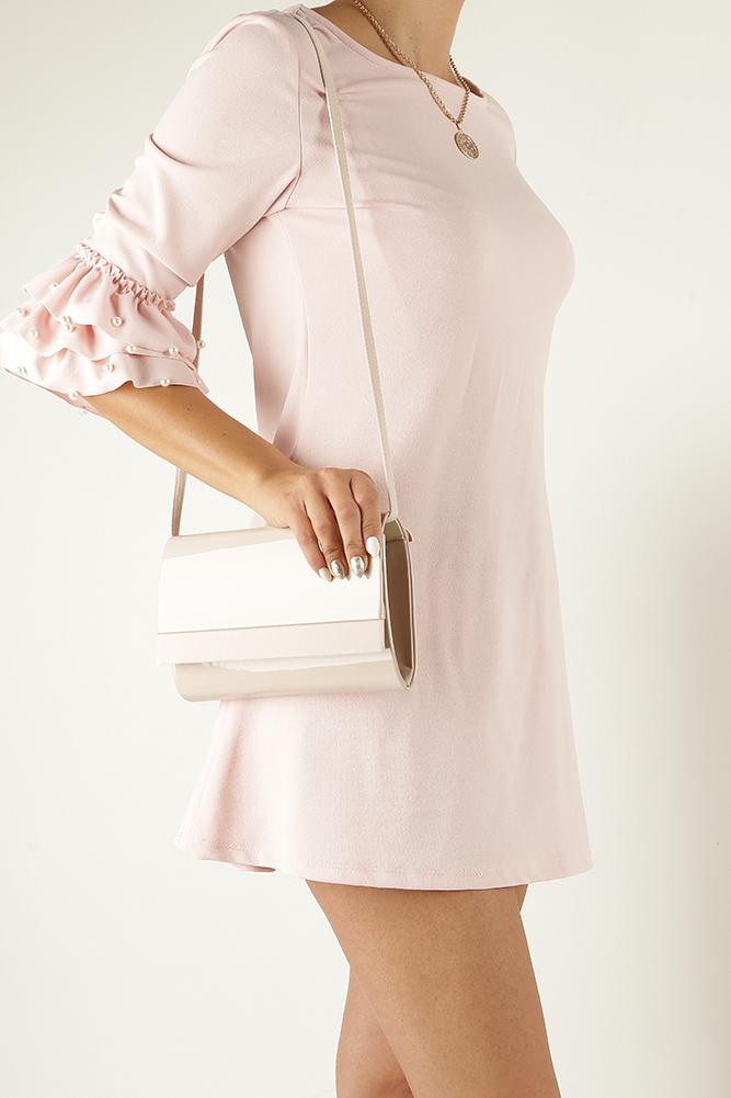 c4117993f04e9 ... Różowa torebka wizytowa lakierowana Casu R20A kolor jasny różowy. » «