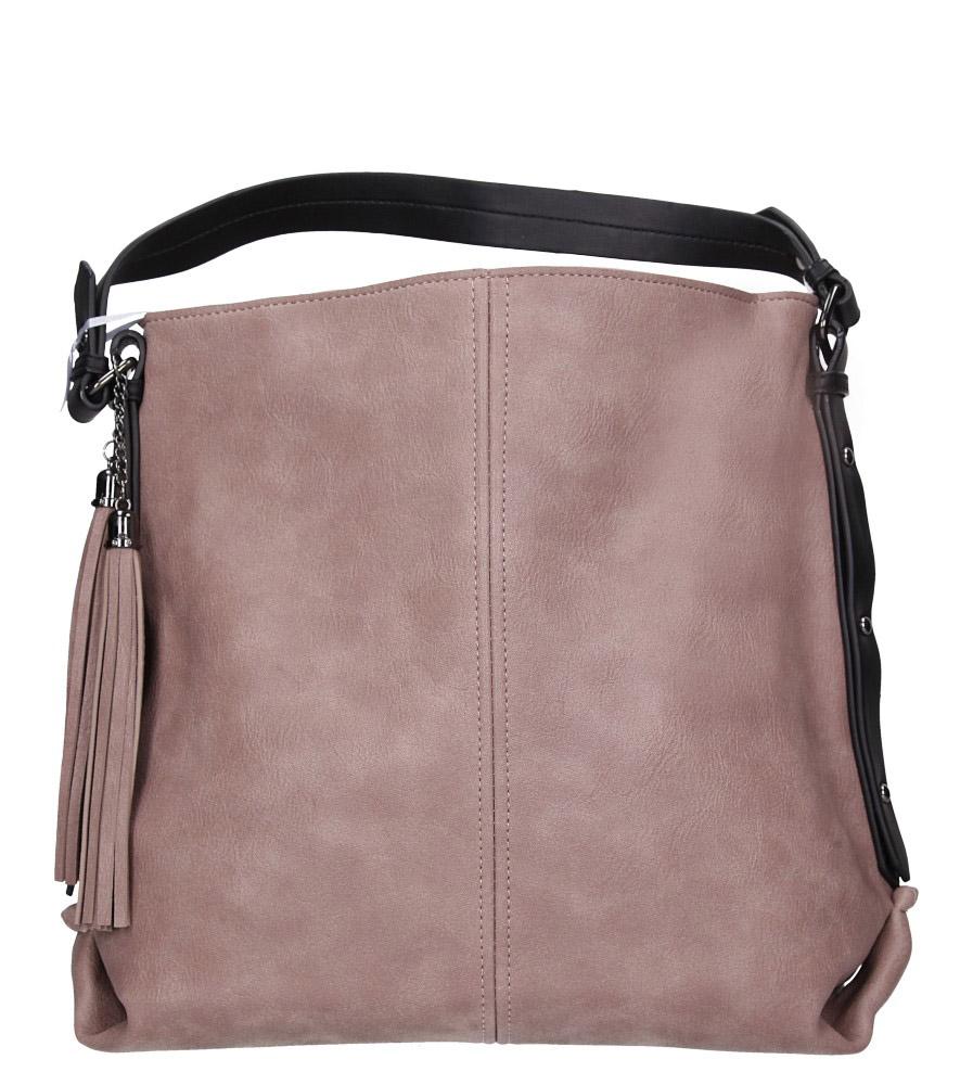 Różowa torebka z frędzlami Casu 4127-BB
