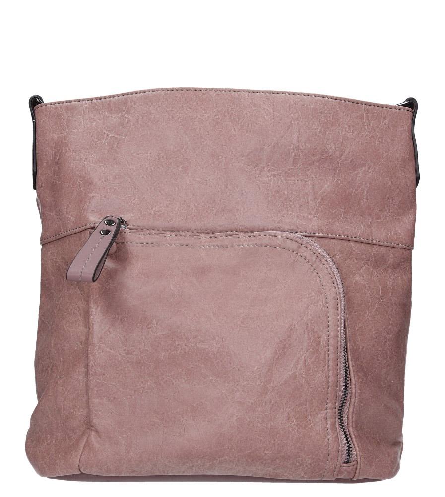 Różowa torebka z kieszonką z przodu Casu 3845-BB