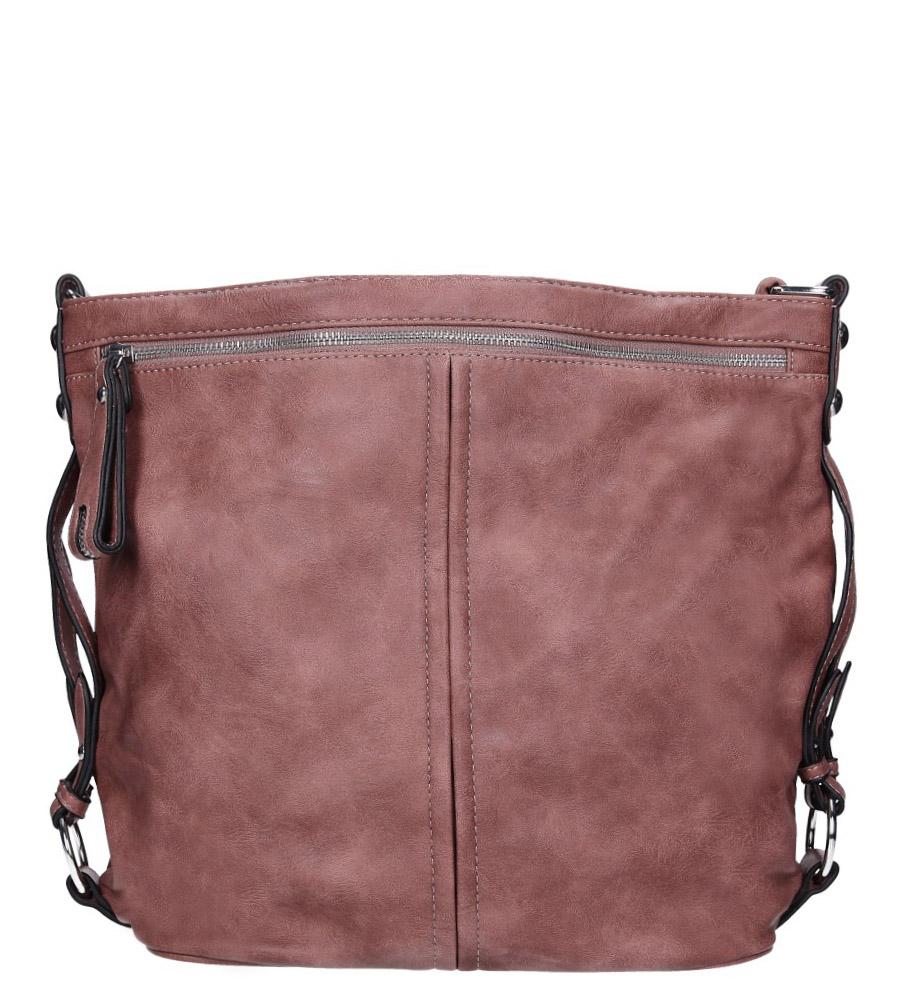 Różowa torebka z kieszonką z przodu Casu 74-MH
