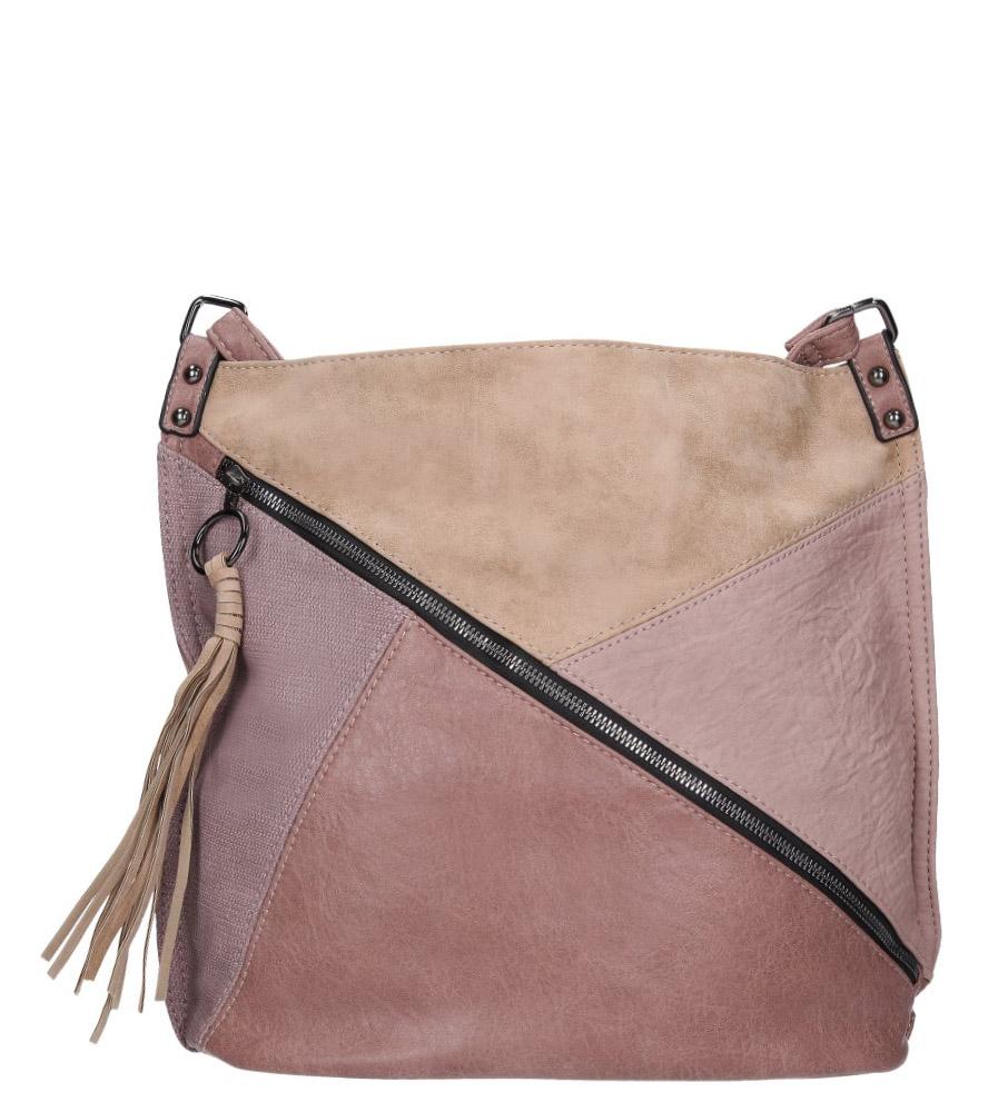 Różowa torebka z ozdobnym suwakiem Casu 3794-BB