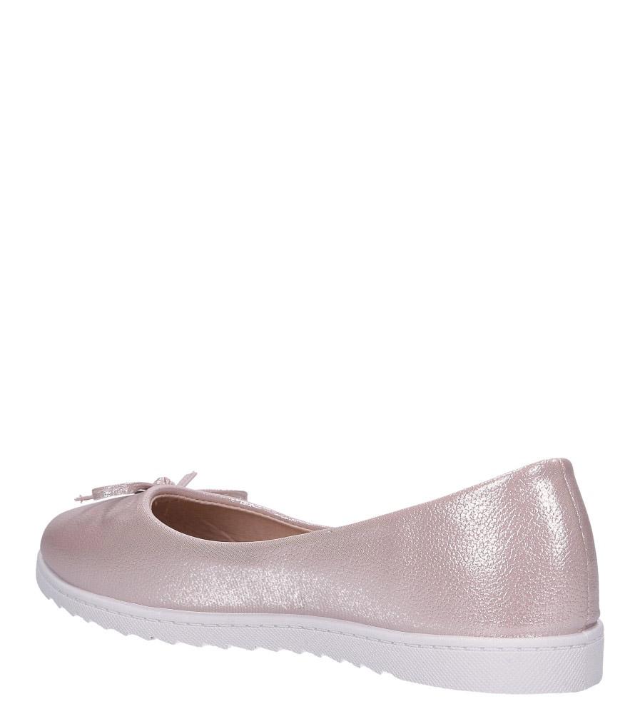 Różowe baleriny błyszczące z kokardką Casu DA19X1/P wys_calkowita_buta 7.5 cm