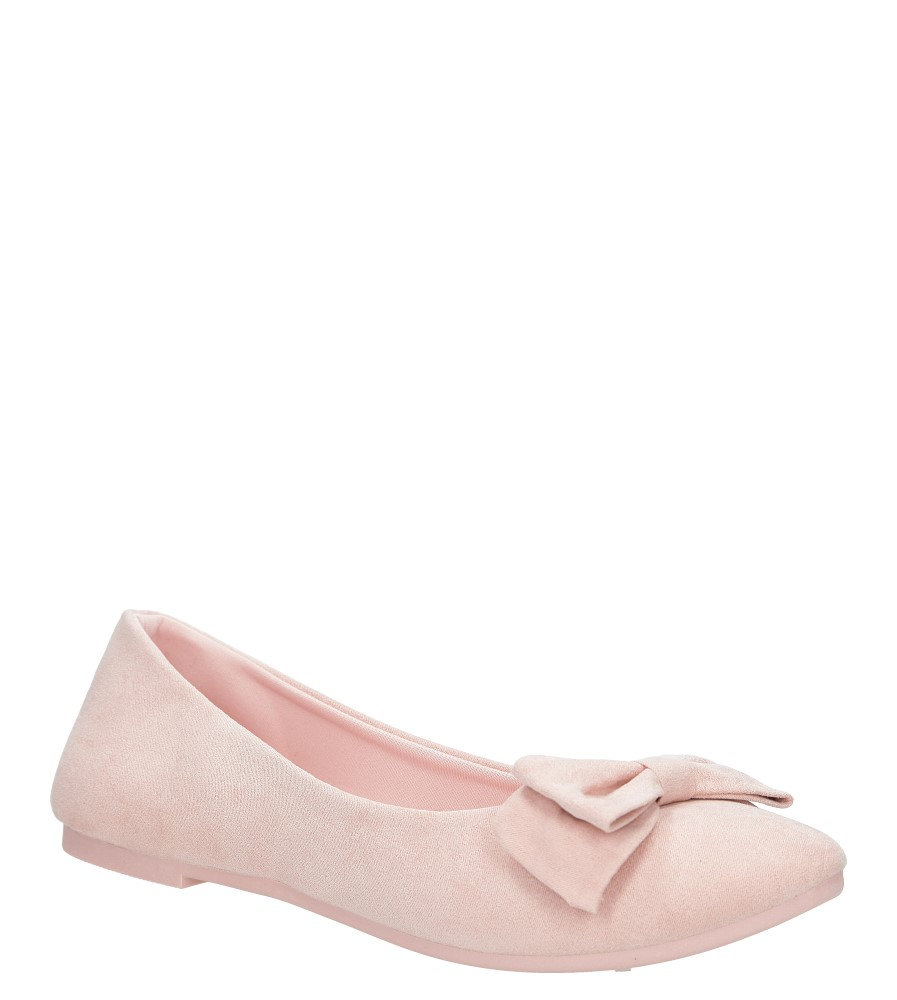 Różowe baleriny z kokardą Casu BA31-20