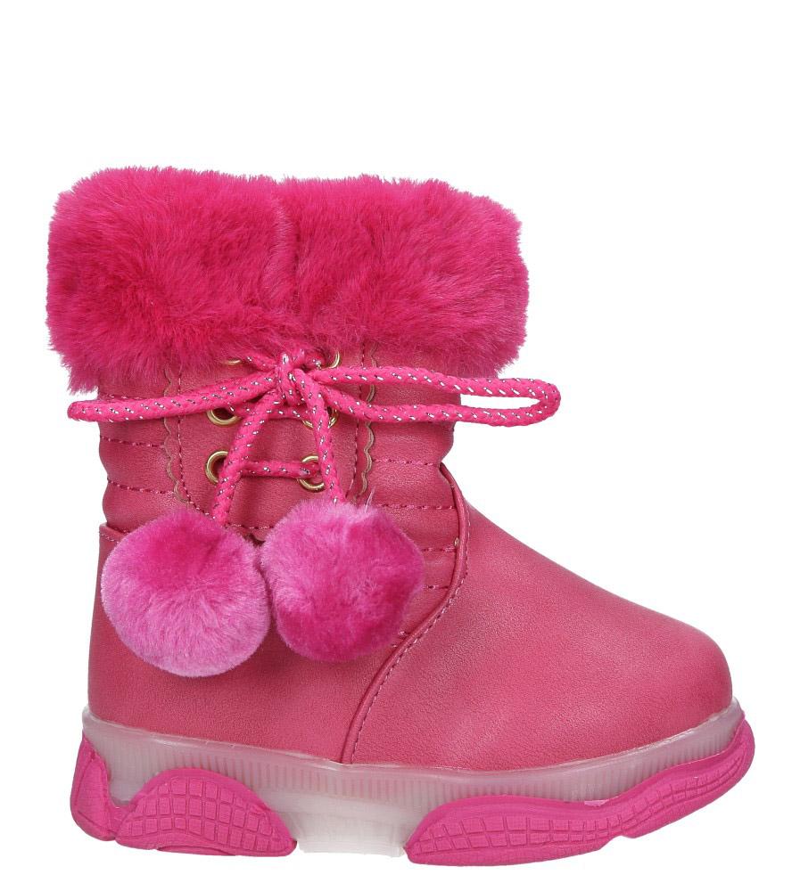 Różowe botki z futerkiem i pomponami Casu X802A kolor różowy