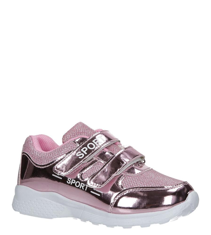 Różowe buty sportowe błyszczące na rzepy Casu A4843-22 producent Casu