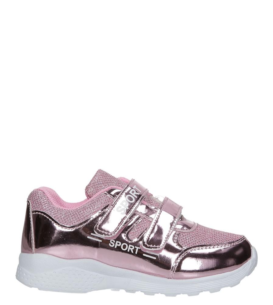 Różowe buty sportowe błyszczące na rzepy Casu A4843-22