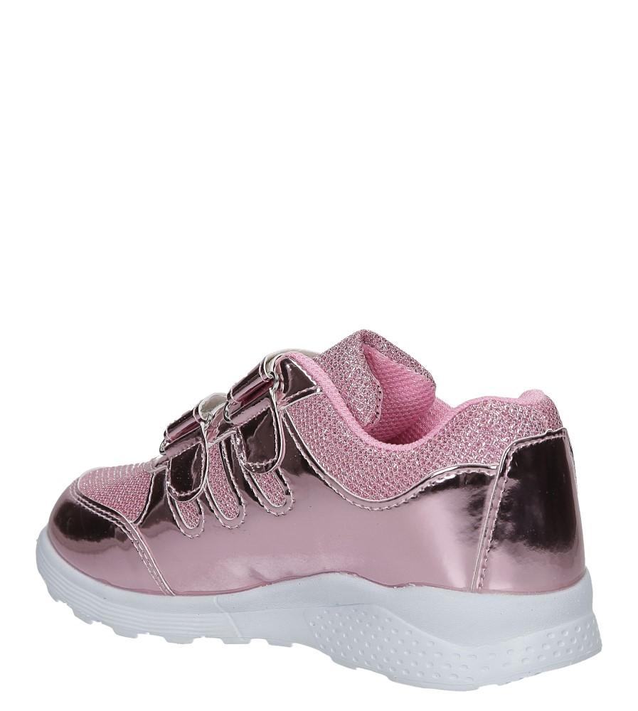 Różowe buty sportowe błyszczące na rzepy Casu A4843-22 sezon Całoroczny